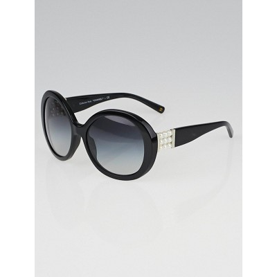 Chanel Black Frame Gradient Tint Pearl Sunglasses-5159