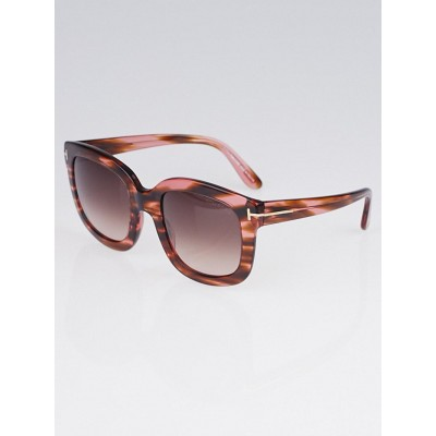 Tom Ford Brown/Rose Acetate Frame Christophe Sunglasses TF279