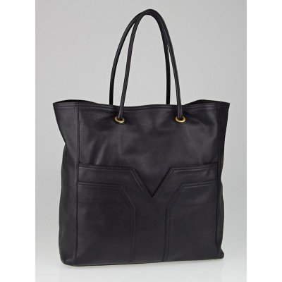 Yves Saint Laurent Black Leather Lucky Chyc Tote Bag