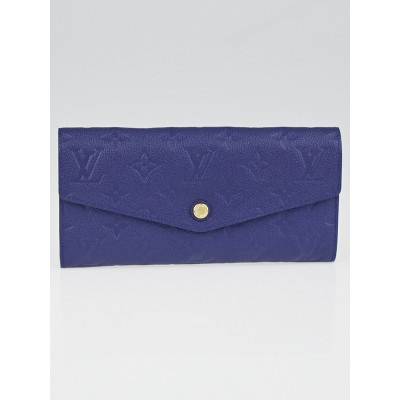 Louis Vuitton Iris Monogram Empreinte Leather Curieuse Wallet