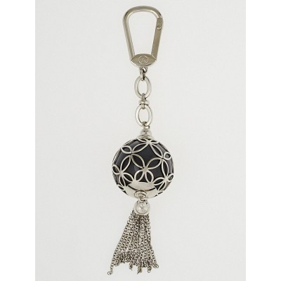 Louis Vuitton Silvertone Ice Ball Key Holder and Bag Charm