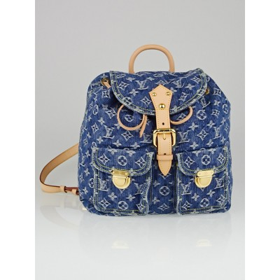 Louis Vuitton Blue Denim Monogram Denim Sac a Dos GM Backpack Bag