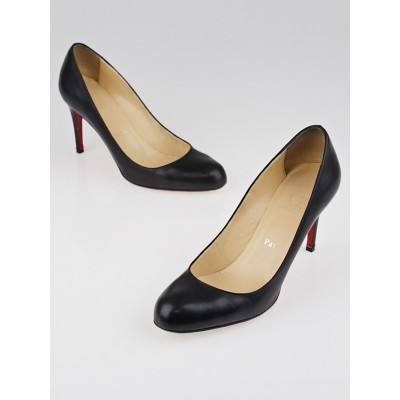 Christian Louboutin Black Leather Simple 85 Pumps Size 7.5/38
