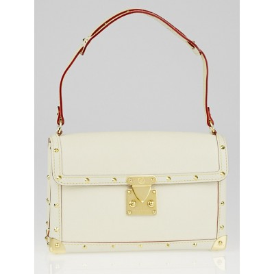 Louis Vuitton White Suhali Leather L'Aimable Bag