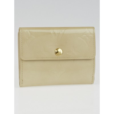Louis Vuitton Beige Monogram Vernis Elise Wallet