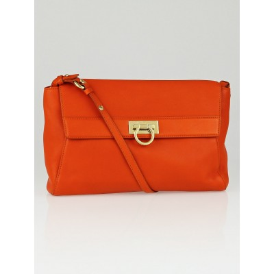 Salvatore Ferragamo Calendula Calf Leather Abbey Crossbody Bag