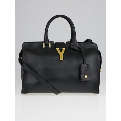 Saint Laurent Black Smooth Calfskin Leather Small Cabas ChYc Bag