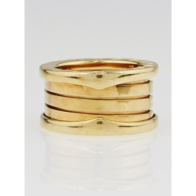 Bvlgari 18k Yellow Gold B.Zero1 4-Band Ring Size 5.5/50