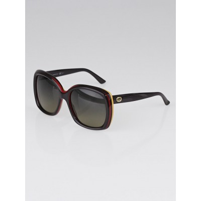 Gucci Brown Plastic Frame Oversized Sunglasses - GG 3612