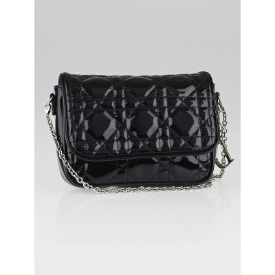 Christian Dior Black Cannage Quilted Lady Dior Mini Crossbody Bag