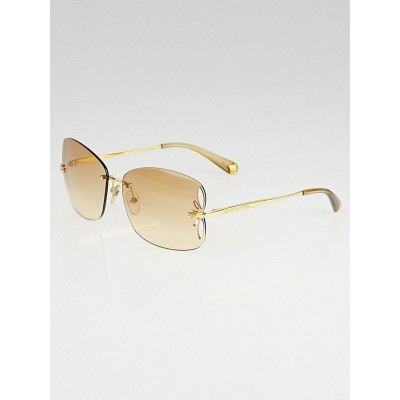 Louis Vuitton Brown/Gold Rimless Lily Sunglasses Z0307U