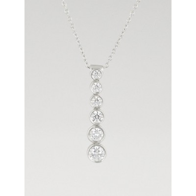 Tiffany & Co. Platinum and Diamond Graduated Jazz Drop Pendant