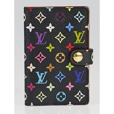 Louis Vuitton Black Monogram Multicolore Small Card Holder Wallet