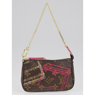 Louis Vuitton Limited Edition Monogram Christmas Animation Mini Accessories Pochette Bag