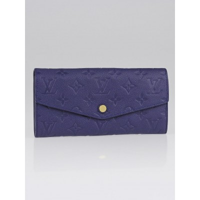 Louis Vuitton Celeste Monogram Empreinte Leather Curieuse Wallet