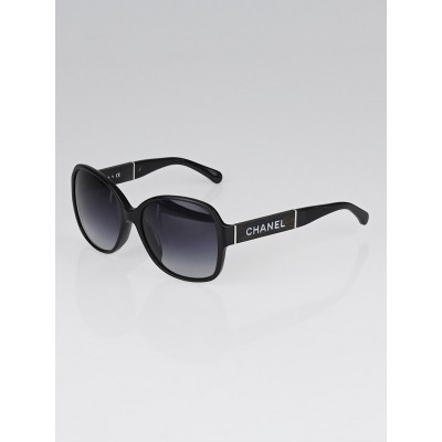 Chanel Black Frame Square Signature Sunglasses-5198