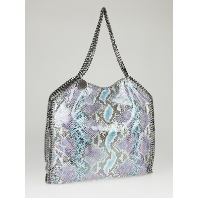 Stella McCartney Multicolor Hologram Faux Python Falabella Big Tote Bag