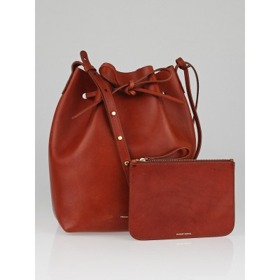 Mansur Gavriel Brandy Tanned Leather Bucket Bag
