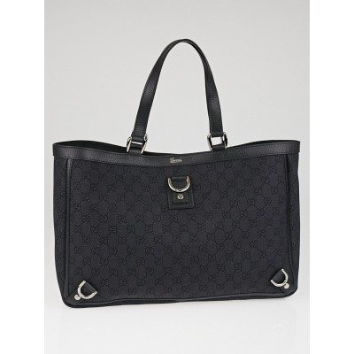 Gucci Black GG Canvas Abbey Large Tote Bag
