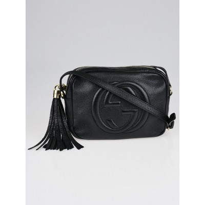 Gucci Black Pebbled Leather Soho Disco Small Shoulder Bag