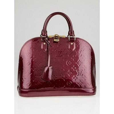 Louis Vuitton Rouge Fauviste Monogram Vernis Alma PM Bag