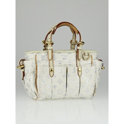 Louis Vuitton Limited Edition White Monogram Glitter Cabas GM Bag