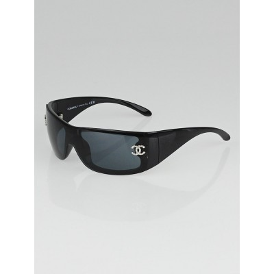 Chanel Black Frame and Swarovski Crystals CC Sunglasses -5088-B