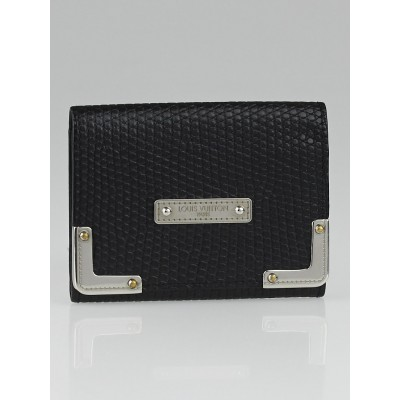 Louis Vuitton Black Embossed Leather Business Card Holder