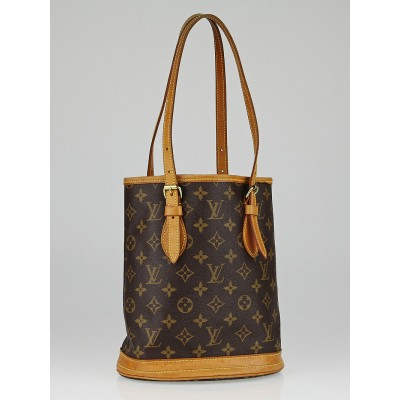 Louis Vuitton Monogram Canvas Petite Bucket Bag w/o Accessories Pochette