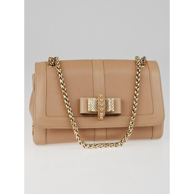 Christian Louboutin Beige Leather Small Sweet Charity Bag
