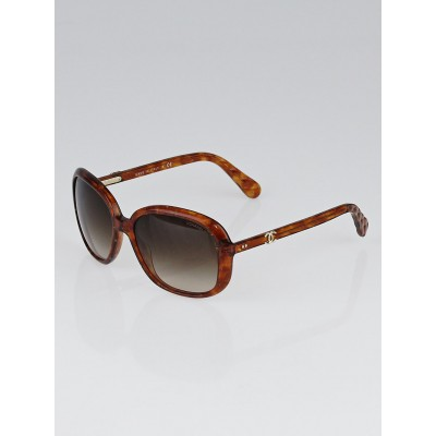 Chanel Honey Brown Marble Frame CC Sunglasses - 5244