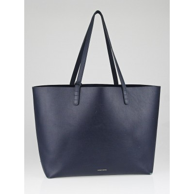 Mansur Gavriel Blue/Blue Coated Calf Leather Large Tote Bag