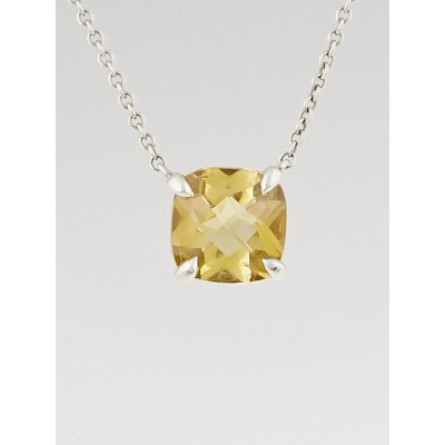 Tiffany & Co. Sterling Silver and Citrine Sparklers Pendant Necklace