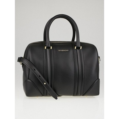 Givenchy Black Smooth Lambskin Leather Medium Lucrezia Duffle Bag