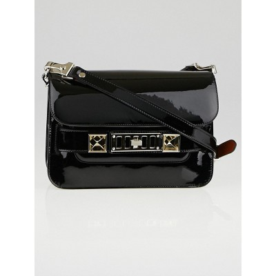 Proenza Schouler Black Patent Leather PS11 Mini Classic Bag