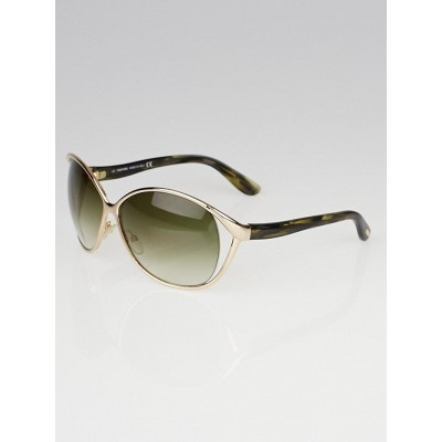 Tom Ford Goldtone Frame Gradient Tint Yvette Sunglasses - TF89