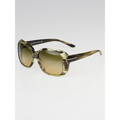 Tom Ford Honey Green Gradient Tint Alissa Sunglasses-TF119