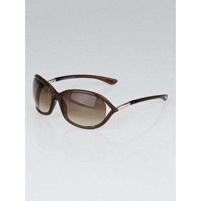 Tom Ford Brown Frame Gradient Tint Jennifer Sunglasses-TF8