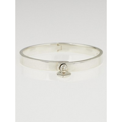 Tiffany & Co. Sterling Silver Locks Heart Lock Bangle Bracelet