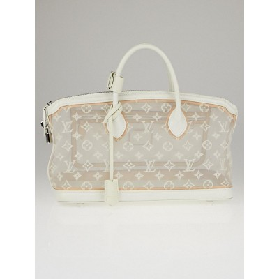 Louis Vuitton Limited Edition Monogram Transparence Lockit East/West Bag