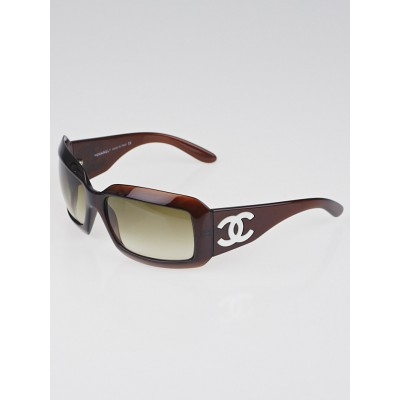 Chanel Brown Frame Mother-of-Pearl CC Sunglasses-5076-H