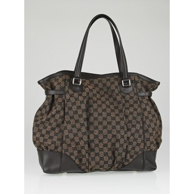 Gucci Brown GG Canvas Full Moon Tote Bag