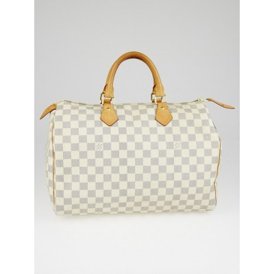 Louis Vuitton Damier Azur Canvas Speedy 35 Bag