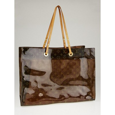 Louis Vuitton Limited Edition Monogram Vinyl Ambre Cruise Tote Bag