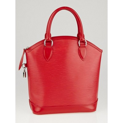 Louis Vuitton Rouge Epi Leather Lockit PM Bag