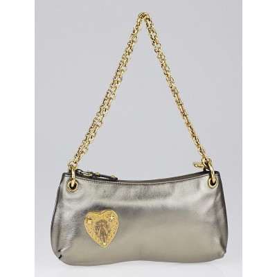 Gucci Bronze Leather Hysteria Evening Clutch Bag