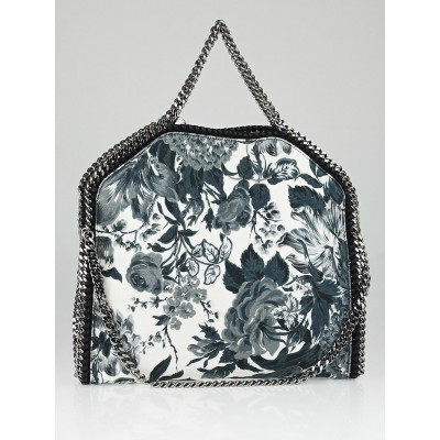 Stella McCartney Floral Print Canvas Falabella Fold Over Tote Bag
