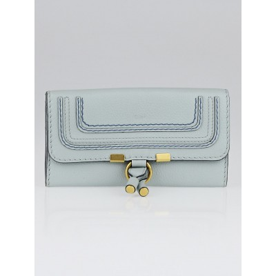 Chloe Icy Blue Leather Marcie Long Flap Wallet