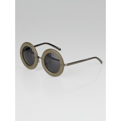 Louis Vuitton Taupe Round Frame Nelly Sunglasses - Z0506U