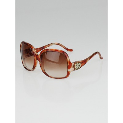 Balenciaga Orange Acetate Gradient Tint Oversized Sunglasses-0008